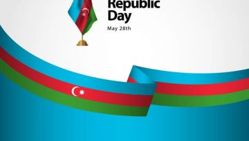 Azerbaijan Republic Day Vector Template Design Illustration