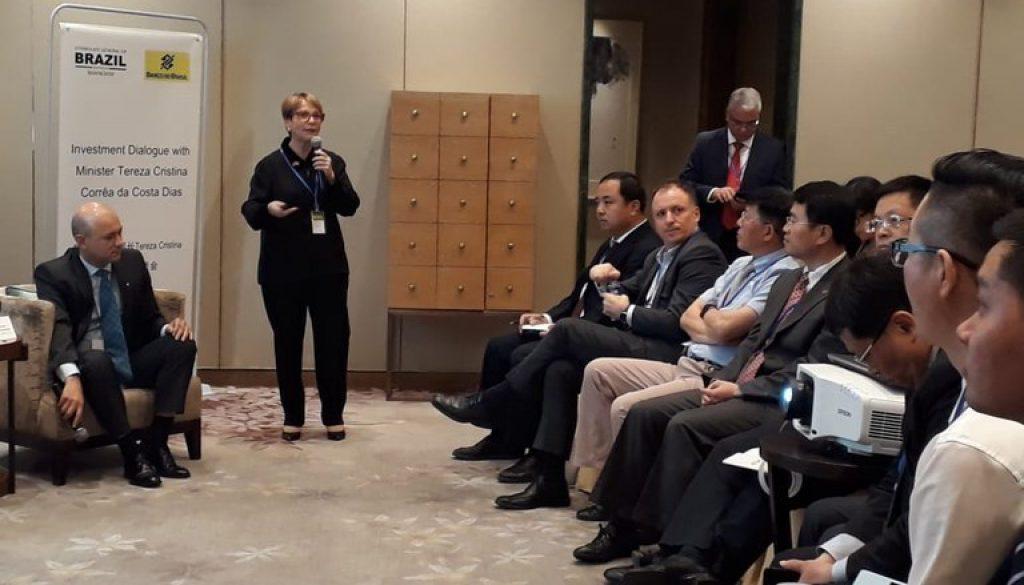 China-acena-à-ministra-Tereza-Cristina-com-promessa-de-aumentar-os-investimentos-no-Brasil