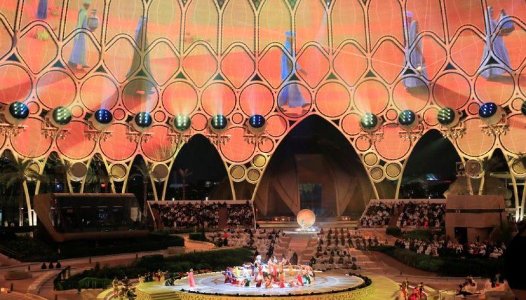 Abertura da Dubai Expo 2020, nos Emirados Árabes Unidos
