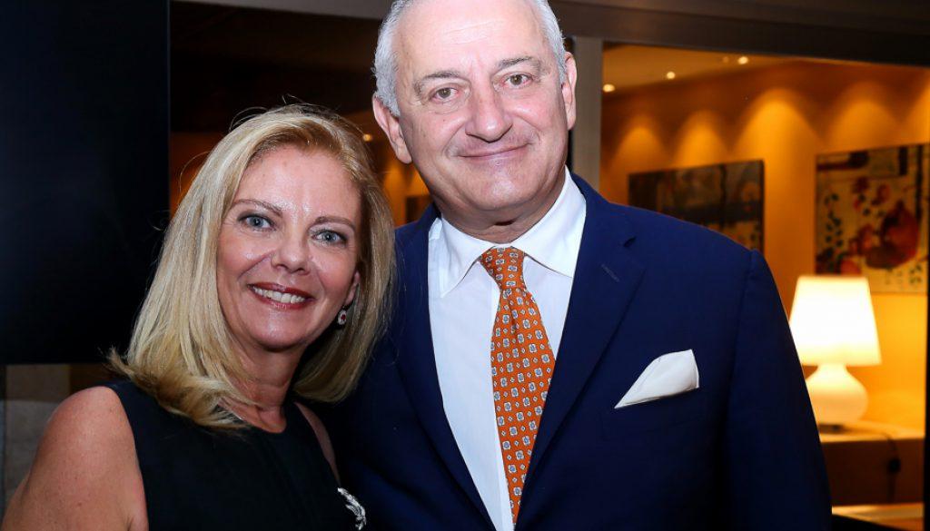 O embaixador da Itália e sua esposa