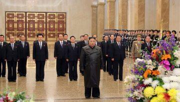 North Korean leader Kim Jong Un visits Kumsusan Palace of the Sun