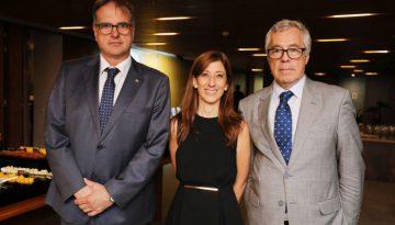 Ministro Manuel Etchevarren, Ministra Natalia Novoa e Embaixador do Uruguai no Brasil, Senhor Gustavo Vanerio (1)
