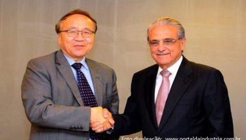 Robson-Braga-de-Andrade-e-Xian-Zhu-se-unem-para-fortalecer-a-presença-do-banco-dos-BRICS-no-Brasil-